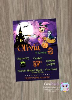 Little Witch Halloween Birthday Invitation By LillysPartyBoutique - Halloween birthday invitations etsy
