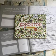 Edmonton: A Colouring Book.  The perfect gift for a kid living in Edmonton.  this book allows them to explore the city, it's the landmarks, and the history or memories that were made there.  #yeg #yegcolouring #yegbook #yegart #yeglandmark #yegarchitecture