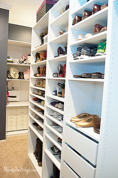 Check out the latest progress on our DIY semi-custom closets using IKEA PAX wardrobes