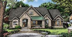ePlans European House Plan – Unique Layout With Chef\'s Kitchen – 2004 Square Feet and 3 Bedrooms from ePlans – House Plan Code HWEPL76894