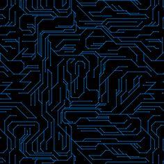 Circuit Board fabric by synaptik on Spoonflower - custom fabric