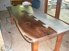 Concrete/Wood Dining Table