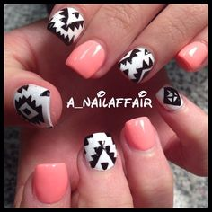 Instagram photo by a_nailaffair I hate the pink part but I love the print