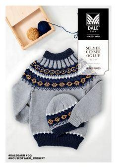 Dagens gratisoppskrift: Selmer genser og lue | Strikkeoppskrift.com