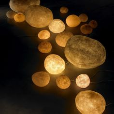 Glowing stones. Love this idea.