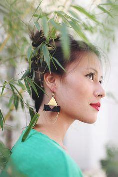 Boucles d'oreilles en cuir // marque : Charly James - Jotiha