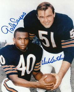 2 of Chicago Bears greatest players: Dick Butkus and Gale Sayers.