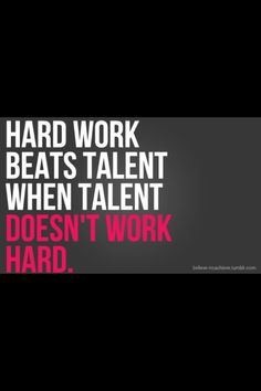 """The most important """"talent"""" is the desire to win."""