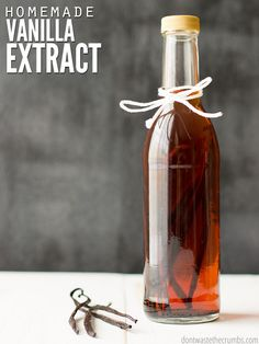 Make 100% pure homemade vanilla extract without added sugar or preservatives. You need just 2 ingredients and a few weeks for a delicious vanilla extract!