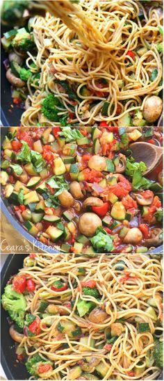bright + vibrant Healthy Pasta Primavera that comes together quickly ...
