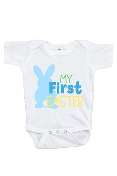 b3d6ed043 Baby Boy Forget eggs Christian Easter onesie
