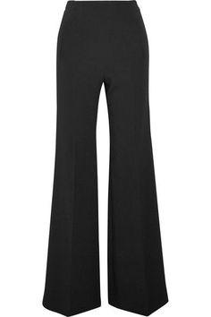 Roland Mouret - Axon Stretch-crepe Wide-leg Pants - Black - UK