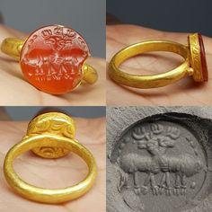 MATERIAL 22k Gold ,Agate stone = Roman. | eBay!