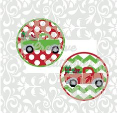 SVG Christmas Vintage Truck designs file for Silhouette or other craft cutters (.svg/.dxf/.eps)
