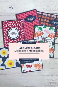Stampin' Up! Happiness Blooms Memories & More cards, Stampin' Up! 2019 Occasions CatalogueESAD Occasions & SAB 2019 Blog Hop – Ink Paper Girl, Rubber Stamping, Papercraft, Card Making, Easy Cards, Masculine Cards