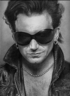 u2 lead singer Bono. Favorite band if all time. No question.