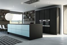vegg med høyskap kjøkken - Google-søk Kitchen Dining, Kitchen Island, Dining Rooms, Condo, Kitchens, Cabinet, Storage, Interior, Inspiration