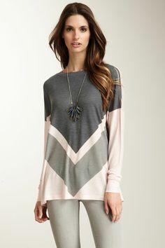 Double V Black Lap Dolman Sweater