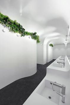 GRG. Glass Fiber Reinforced Gypsum(GRG)OR(GFRG). Ida & Billy Architects. TaiKoo Hui Sustainable Design Washroom CHINA - GUANGZHOU.