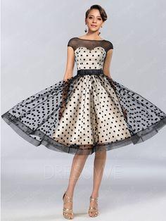 comprar puntos elegantes impresión off-the - hombro tapa de cremallera-para arriba las mangas vestido de cóctel hasta la rodilla una línea Online ,precio: USD$209.79