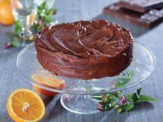 Mørk chokoladekage med appelsin