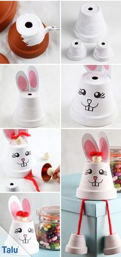 Most up-to-date Photo Clay diy figures Ideas Anleitung – Tontopf-Hase basteln – Talu. Clay Crafts For Kids, Clay Pot Crafts, Easter Crafts, Diy And Crafts, Clay Pot People, Flower Pot Crafts, Painted Flower Pots, Basket Decoration, Clay Pots