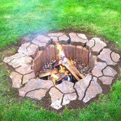 Creative homemade fire pit. Neat idea!!!