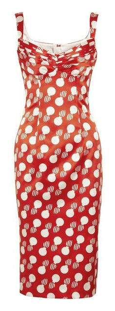Hot italyan style red dotted summer dress