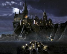 First time to Hogwarts wall mural