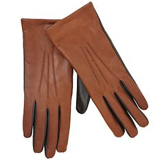 Buy John Lewis Leather Touch Screen Friendly Gloves, Tan online at JohnLewis.com - John Lewis