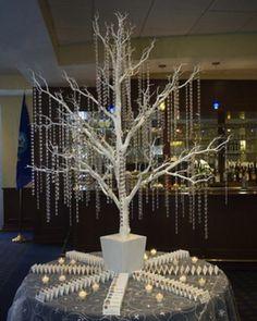 Winter Wonderland Tree Escort Table Decorations | Wedding, Bat Mitzvah - mazelmoments.com