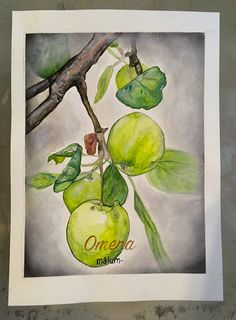 apple tree, watercolor, art, ink and dry pastels. Dry Pastels, Dry Tree, Apple Tree, Cool Artwork, Watercolor Art, Ink, Garden, Painting, Instagram