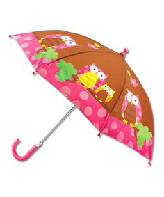 Brown & Pink Owl Umbrella by Stephen Joseph #zulily #zulilyfinds