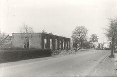 Huizen aan de Kerkstraat o.a. van de omgekomen familie Stomphorst april 1945.