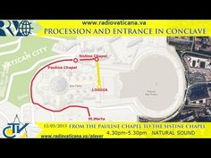 Procession and entrance in Conclave Youtube English, Sistine Chapel, Vatican, Entrance, Blessed, Peace, Channel, March, Events