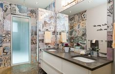 Banksy Tile brings graffiti to the contemporary bathroom - Decoist