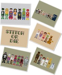 I love cross stitching, and these are adorable and nerdy!