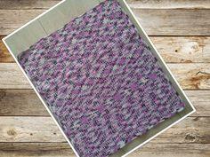 Crochet: baby blanket - granite stitch