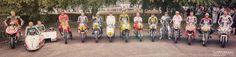 Chaz Davis – Ducati GP3, Steve Webster, Dave Thorpe – Honda RC500M, Phil Read – Norton Dominator, John Surtees – Norton F-Type, Valentino Rossi – Yamaha YZR-M1, Giacomo Agostini – MV Augusta 500, Kenny Roberts – YZR500, Dougie Lampkin, Jim Readman – CR750, Casey Stoner – Honda RC, Troy Corser – BMW R500, Sylvian Guintoli – Pata Honda : Festival of Speed Goodwood 2015 motorcycle legends