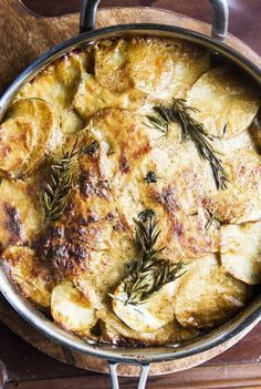 Brown Butter Potatoes au Gratin with Gruyere and Caramelized Onions | A La Place Clichy
