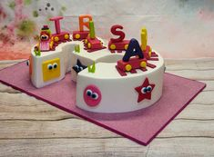 Trisha's 3rd Birthday Train Cake