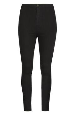 Black High Waisted Denim Jeans | @giftryapp