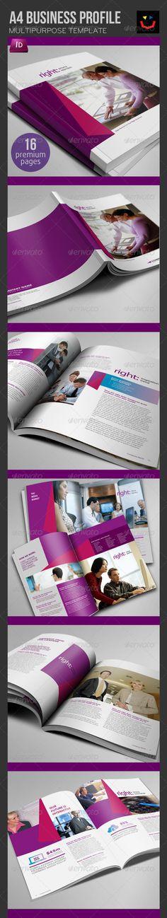 Business Profile Brochure - Brochures Print Templates