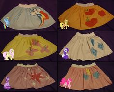 My Little Pony Cutie Mark Skirts by ~Darkauthor81 on deviantART