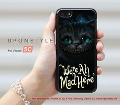 Phone Cases, iPhone 5C Case, We're All Mad Here, iPhone Case, Phone Covers, Skins, Case for iphone, Case No-50183 on Wanelo