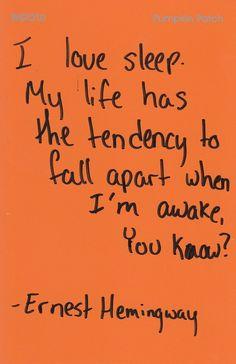 I love Hemingway