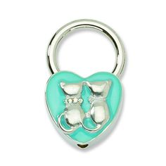 *Extra 10% off on our store plus No Shipping Charges! Period. Silver-tone Cats ... Check it out here! http://shirindiamond.net/products/silver-tone-cats-w-crystals-aqua-enamel-key-fob-gm3750?utm_campaign=social_autopilot&utm_source=pin&utm_medium=pin