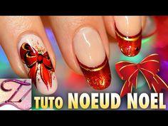 Vidéo Nail art spécial Noël : french manucure et noeud en One Stroke | Tartofraises