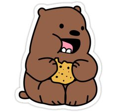 we bare bears stickers Stickers Cool, Tumblr Stickers, Printable Stickers, Planner Stickers, Kawaii Stickers, Kawaii Drawings, Cute Drawings, We Bare Bears Wallpapers, Bear Wallpaper
