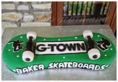 Le palais gourmand: Gâteau skateboard
